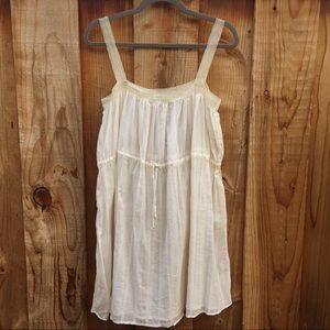 Erica Tanov Creme Airy Lightweight Gauze Dress